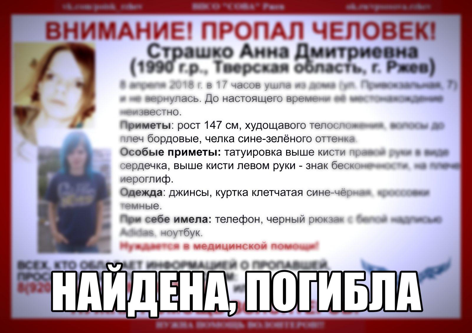 Следователи выяснят обстоятельства смерти Анны Страшко