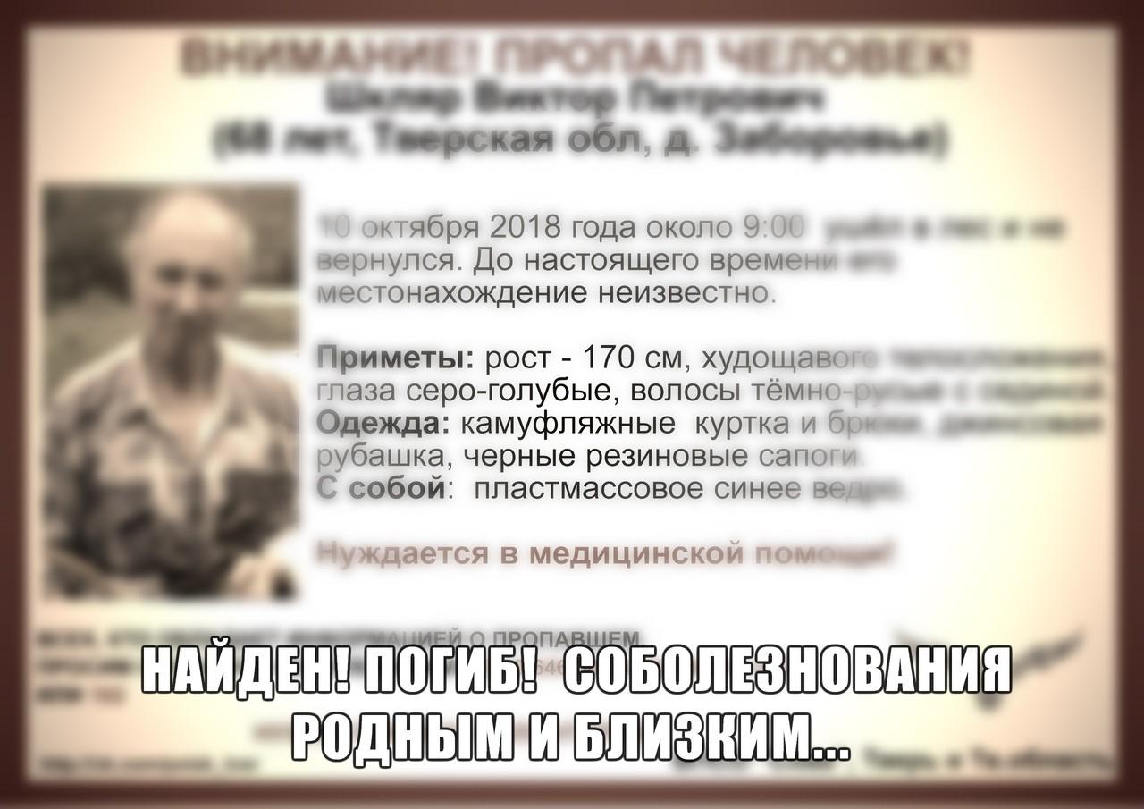 [Погиб] Пропал Шкляр Виктор Петрович (68 лет)