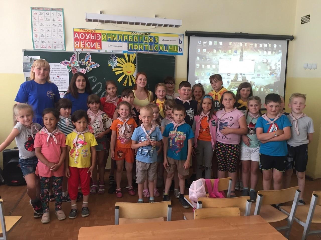 Профилактическая беседа в летнем лагере Дороховской школы города Бежецка