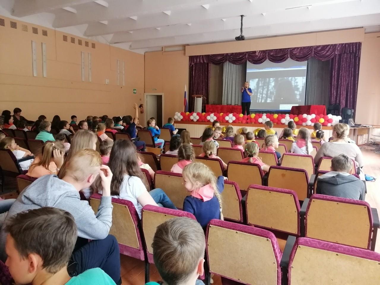 Профилактическая лекция-диалог в летнем лагере школы №4 города Бежецка