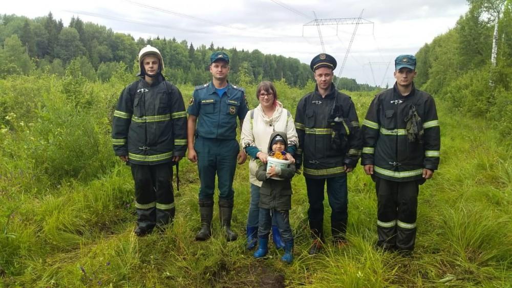 Пожарные нашли женщину, заблудившуюся в лесу Калининского района