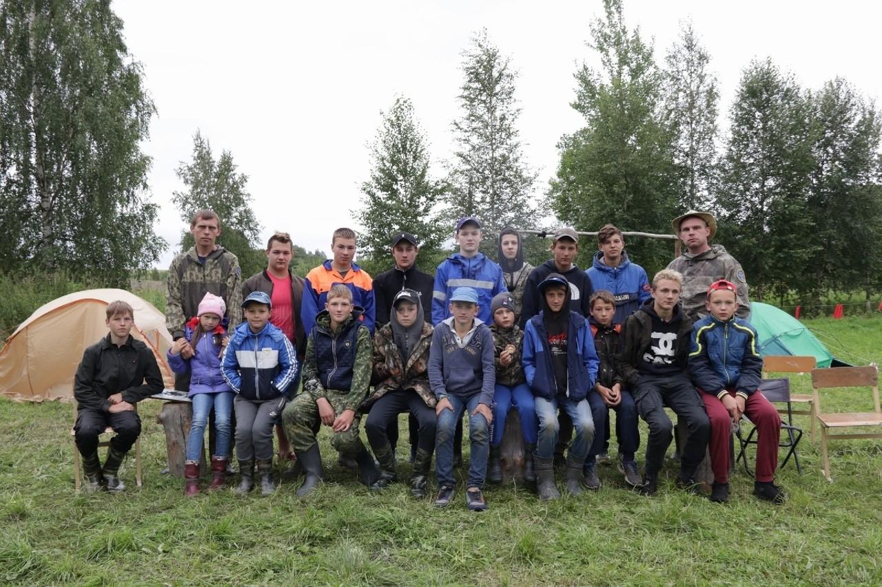 Профилактика в палаточном лагере в Кесовогорском районе